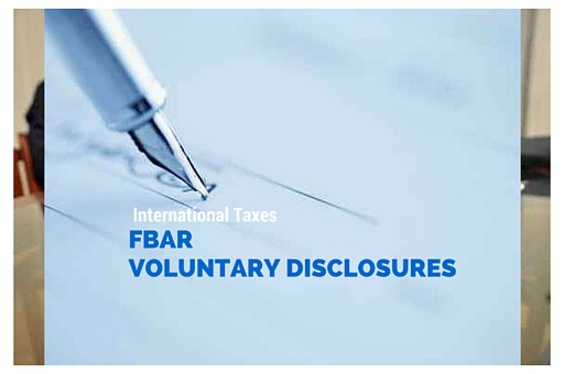 FBAR VOLUNTARY DISCLOSURES