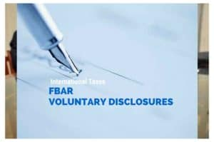 FBAR VOLUNTARY DISCLOSURES 1